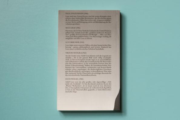 Konfrontationen: Schriften von und über Adolf Loos
