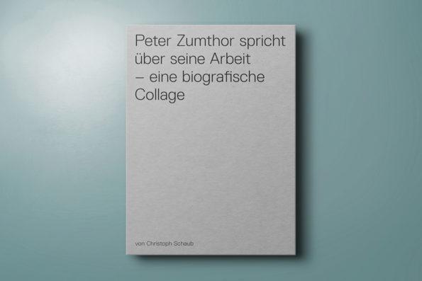 Peter Zumthor spricht über seine Arbeit